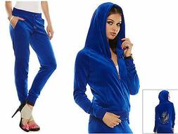 Juicy Couture Embellished Velour Hoodie and Joggers Tracksui