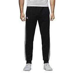 adidas Men's Essentials 3-Stripe Jogger Pants, Black/White,