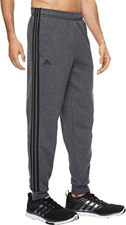adidas Men's Essentials 3-Stripe Jogger Pants, Dark Grey Hea