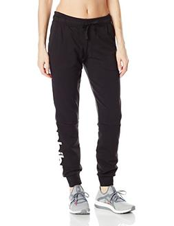 adidas Women's Essentials Linear Pants, Black/White, Medium
