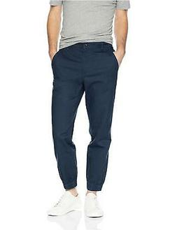 Amazon Essentials Men's Straight-Fit Jogger Pant, Navy, Larg