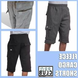 PRO CLUB CARGO FLEECE SHORTS MEN HEAVYWEIGHT JOGGER SWEATPAN