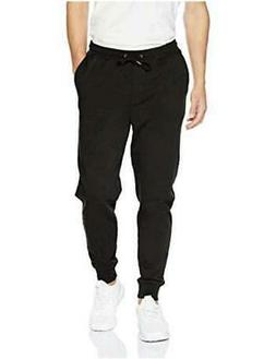 Goodthreads Men's Fleece Jogger, Black, Medium