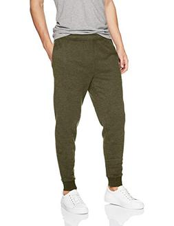 Amazon Essentials Men's Fleece Jogger Pant, Olive, Large