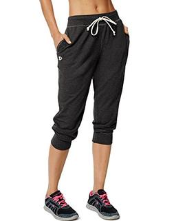 Champion Women's French Terry Jogger Capris Black L