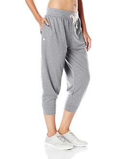 Champion Women's French Terry Jogger Capris Oxford Grey Heat