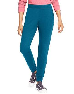 Hanes Women's French Terry Jogger Pants Blue Oasis XL