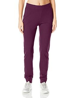Hanes Women's French Terry Jogger Pants Plum Port L