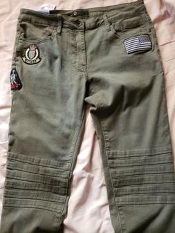 G By Guess Men's Olive Night modern skinny Jean Joggers size