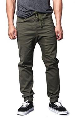 Victorious G-Style USA Men's Drop Crotch Jogger Twill Pants