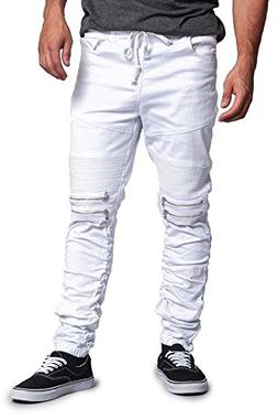 G-Style USA Scrunch Stacked Biker Twill Jogger Pants JG882 -