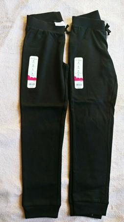 JUMPING BEANS GIRLS JOGGER 2 PAIRS OF PANTS SIZE 7 SOLID BLA