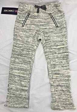 Cherokee Girls Pants 3T Gray Faux Pockets Zippers Bow NWT To