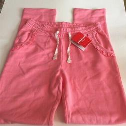 Hanna Andersson Girls Pants Pink Ruffle 100% Cotton Joggers