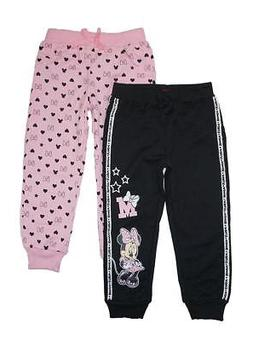 Minnie Mouse Girls Pink & Black Two-Pack Joggers Size 2T 3T