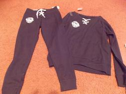 justice-girls -size 6/7-2 piece top and black lace up jogger