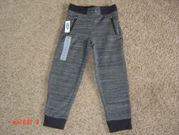 Old Navy Girls Size 6-7 Joggers Sweatpants GRAY/BLACK TRIM S
