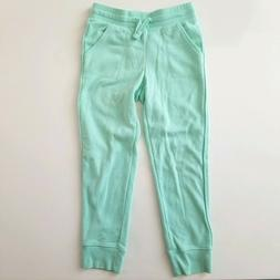 Girls Sweatpants Joggers Active Size 6 Cat & Jack Green Glit