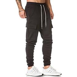 Men's Gym Fitness Workout Pants Bodybuilding Tapered Athleti