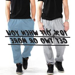 HI MEN WOMEN UNISEX PLAIN SWEATPANTS CASUAL 3 POCKET JOGGER