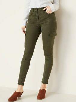 Old Navy High-Waisted Sateen Rockstar Super Skinny Cargo Pan