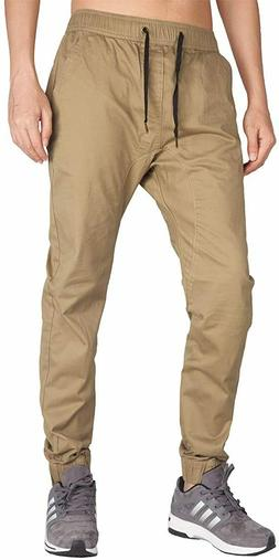 ITALY MORN Men's Chino Jogger Twill Sweatpants casual Pants