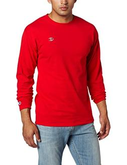 Champion Men's Jersey Long Sleeve T-Shirt, Crimson, XX-Large