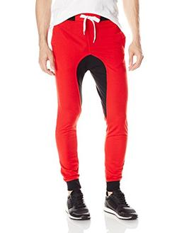 Southpole Men's Jogger Pants Basic French Terry with Drop Cr