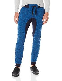 Southpole Men's Jogger Pants in All Over Printed Fleece Fabr