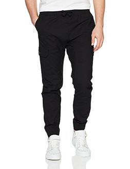 jogger pants washed ripstop fabric
