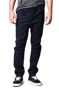 Victorious Men's Jogger Twill Pants JG804 - NAVY - X-Large