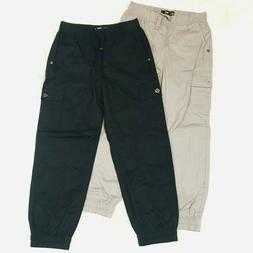 """LEE JOGGERS BOYS RELAXED FIT SIZE 6 LONG """"NWOT"""" BLACK & GRAY"""