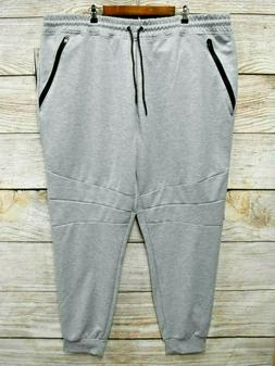 Southpole Joggers Mens 6XB Heather Grey Tech Fleece Slim Fit