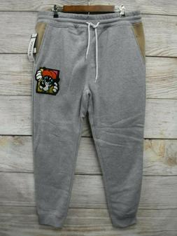 Southpole Joggers Mens Large Grey Patch Skinny Sweat Jogger