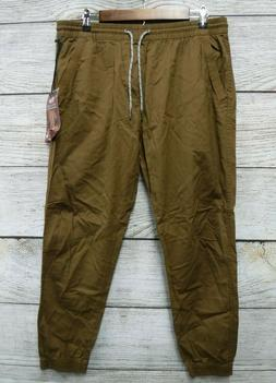Plugg Joggers Mens Large Rum Brown Stretch Ripstop Jogger Pa