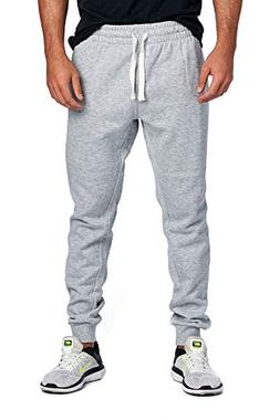 ProGo Men's Joggers Sweatpants Basic Fleece Marled Jogger Pa