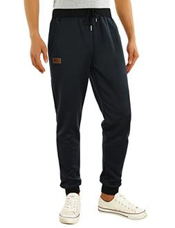 HEMOON Men's Jogging Loose Tracksuit Bottoms Training Runnin