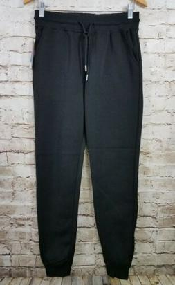 Southpole Junior's Fleece Basic Jogger Pants Black Young Boy