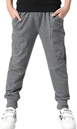 Kids Cotton Pull On Active Sports Basic Jogger Sweat Pants f