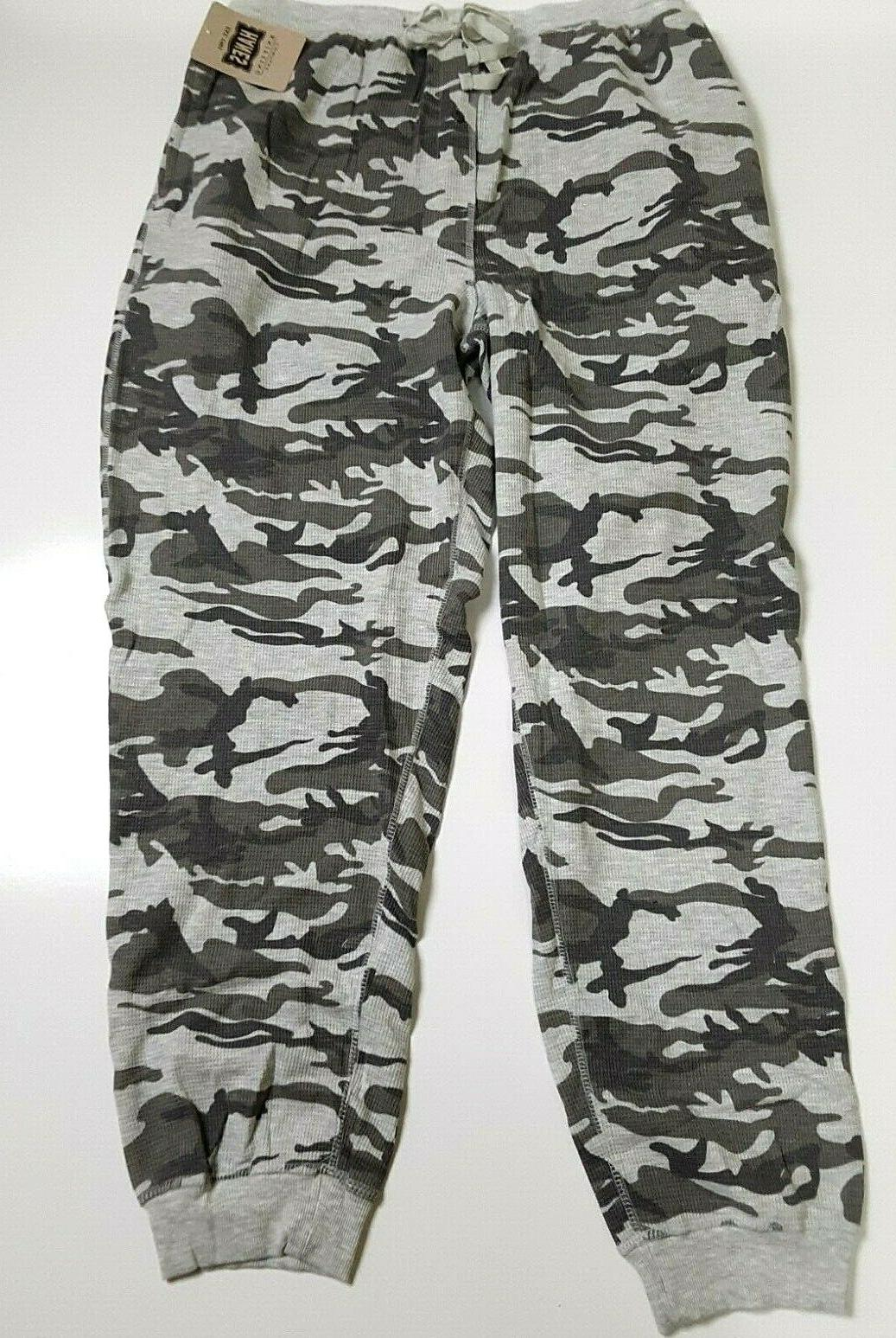 2 PAIR'S Hanes EXTRA LARGE Men's Thermal Waffle Knit Jogger