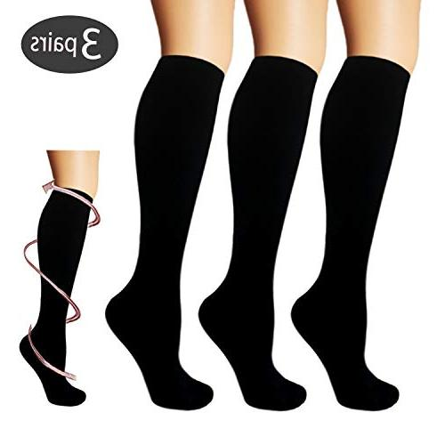 3 pairs compression socks for women