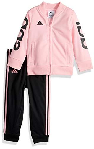 baby girls zip jacket and pant set