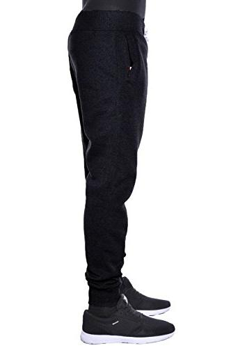 Hat and Fleece Jogger Pants Elastic Drawstring Active Trousers