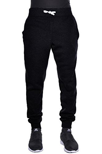 Hat Mens Fleece Jogger Drawstring Trousers