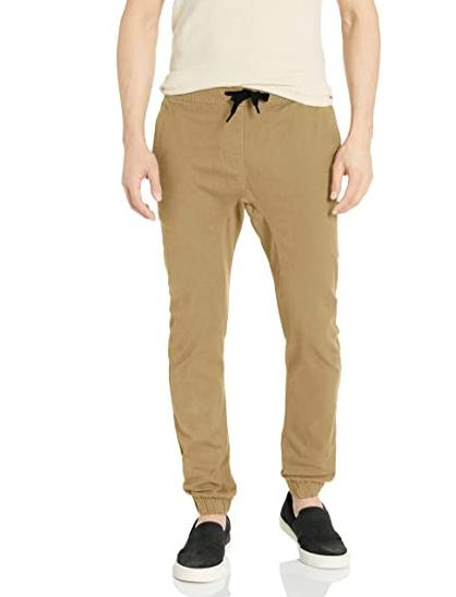 basic stretch twill jogger pants