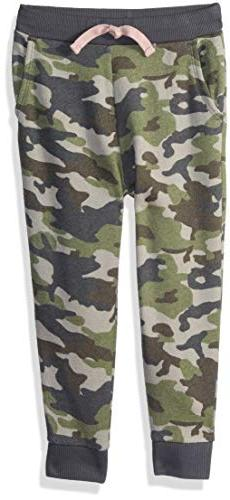 Gymboree Girls' Big Relaxed Fit Joggers, camo, M