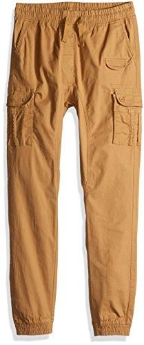 Southpole Boys' Big Washed Stretch Ripstop Cargo Jogger Pant