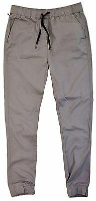 BNWT: MENS SOLID COLOR STRETCH RIPSTOP COTTON JOGGER PANTS