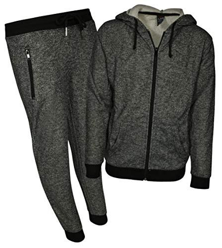 boys 2 piece active french terry hoodie