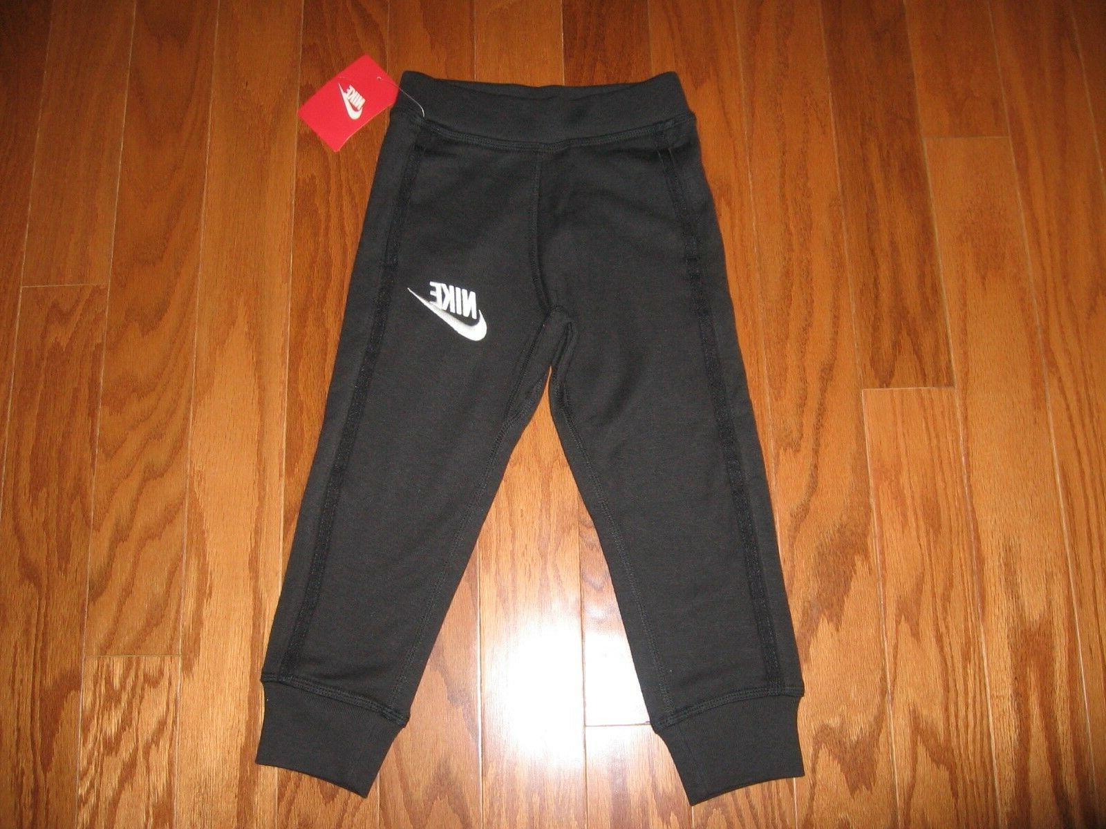 boys athletic joggers with swoosh size 2t